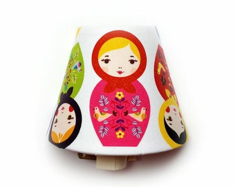 Matryoshka Doll Night Light / Baby Girl Nursery Decor / Girls Room Bedroom / Russian Stacking Doll