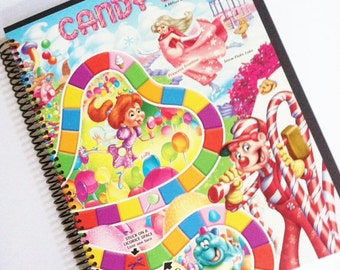 Sketchbook Journal CANDYLAND  Made from an actual game board Candy Land