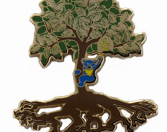 Grateful Dead JGB Jerry Garcia How Sweet It Is Tree of Life Hat Lapel Pin