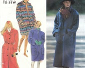 1991 Simplicity Easy to Sew Coat Pattern