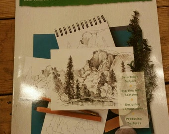 Landscapes Learn to Draw step by step by William F Powell / Art instruction book / Drawing / How to book / Booklet / Artist / Self taught