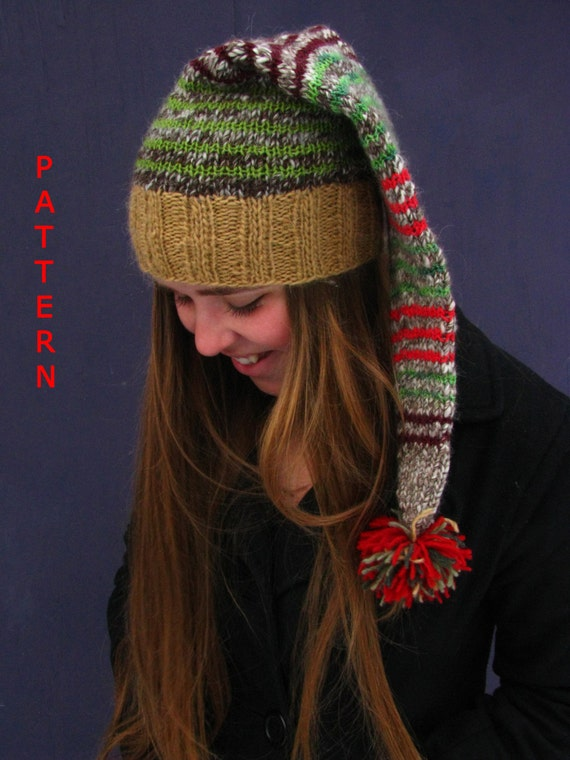 Items similar to KNITTING PATTERN Santa Christmas Hat or ...