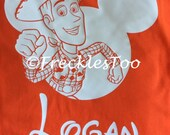 Mickey and Toy story silhouette  shirt
