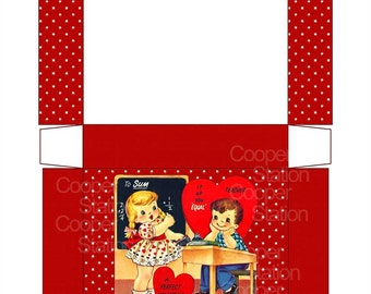 Digital Printable Teacher Valentine Treat Box