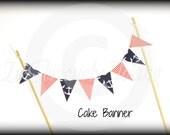 Cake banner-Nautical Cake Banner-paper banner-paper garland-birthday banner-Little man-Baby Shower Cake Topper-Birthday Cake Bunting