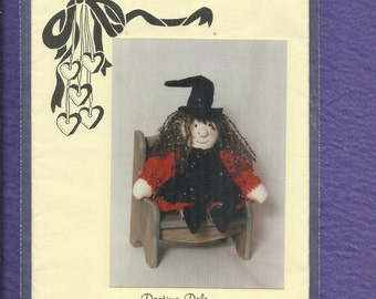 Vintage 1989 Wendy Witch Rag Doll Pattern  Country Heartstrings RPC 280 Ragtime Pals  UNCUT