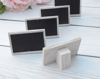 MINI Freestanding Chalkboard Signs, food signs, wedding signs, rustic weddings- custom your colors!