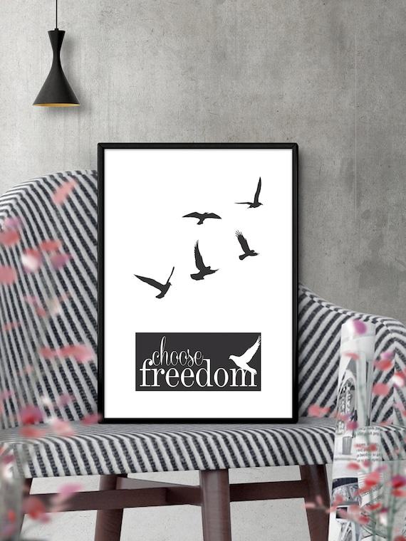 Items similar to Choose Freedom Modern Minimalist ...