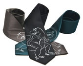 T-Rex Tie screen printed Dinosaur Necktie