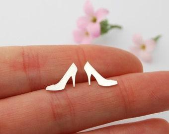 Heels studs - sterling silver stilettos high heels stud earrings