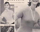 Womens Own Autumn Family Knitting Book  - 1960s Mag insert - Family Knitting Pattern, Tops, Cardigans, Jumpers/Sweaters