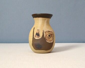 Vintage Studio Pottery Vase - Signed