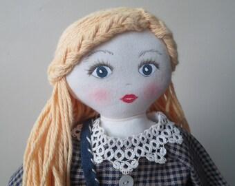 Sweet Blonde Heirloom Rag Doll