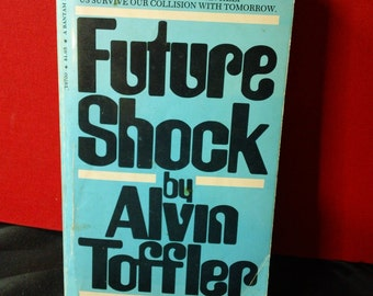Future Shock by Alvin Toffler vintage 1971 paperback book