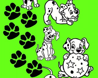 Dalmations and Paw Prints