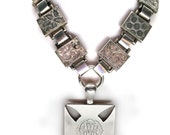 Stunning Victorian Silver Locket and Bookchain Collar Set