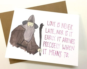Gandalf Valentine Lord Of The Rings Valentine S Day Card