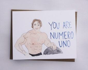 Arnold Schwarzenegger Card // Funny // Weight Lifting