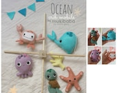 Baby Crib Mobile - Under The Sea Crib Mobile - Ocean Crib Mobile - Ocean Nursery - Octopus Whale and Star Fish