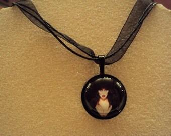 Elvira Mistress of The Dark Glass Pendant
