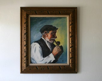 Old Fisherman Painting