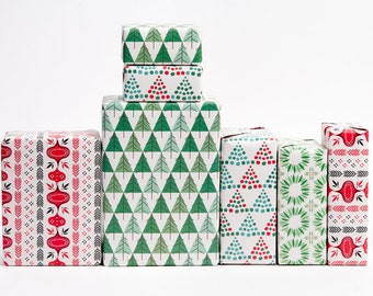 Mid-Century Modern Christmas Gift Wrap - 12 feuilles