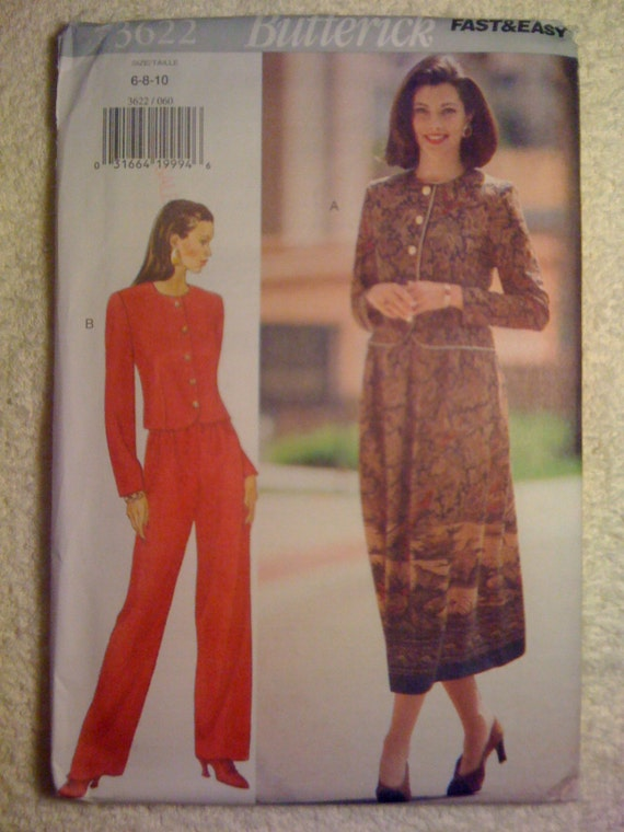 Butterick 90s Sewing Pattern 3622 Misses/Misses Petite Top, Skirt and Pants Size 6-10