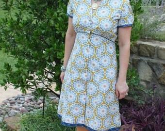 The Isabella Dress Sewing  Pattern by  Kay Whitt