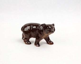 Vtg Brown Bear Japan Figurine