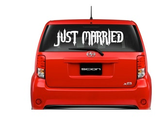 Just Married Car Decal, Just Married Car Sign, Wedding Decor Decal, Honeymoon Decal, Just Married, Wedding Decorations