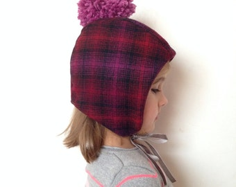 Wee Wool Bonnet for Baby, Toddler and Kids - Made to Order Copy