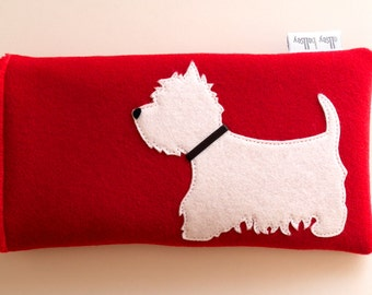 Westie Glasses Case  Pouch  Sunglasses Case West Highland Terrier Gift