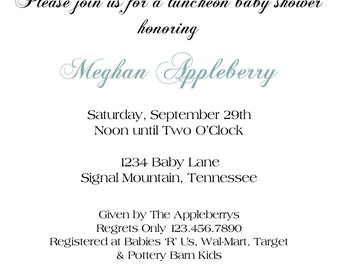 blue and gray invitation