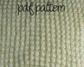 PDF Crochet Pattern - Solid Off White Bobble Afghan - Intermediate
