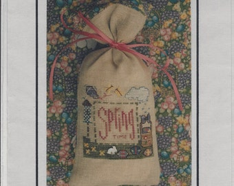"Clearance - ""Springtime"" Counted Cross Stitch Chart by Holly House Designs"