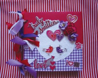 Valentine Album Instagram Scrapbook Photo Album Premade Mini Love Notes
