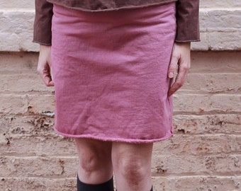 Organic Cotton Fleece Above the Knee Skirt