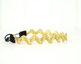 Big Gold Rick Rack Chevron Headband