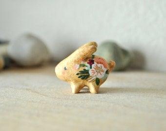Miniature Baby Bunny Rabbit Figurine Animal Sculpture, Animal Totem