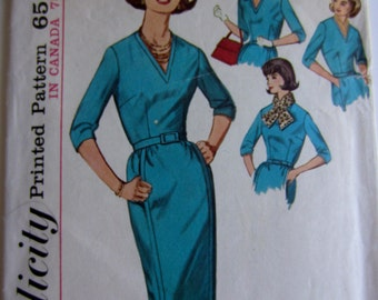 Vintage 1950's Simplicity dress pattern 5129 , size 18, bust 38
