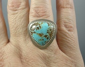 Australian turquoise and silver ring