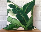 Swaying Palms Pillow Cover, Banana Leaf, Tropical, Bahama, Resort