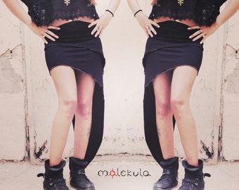 Sexy Skirt, Black Skirt, Gypsy Clothing, Burningman Festival, Festival Wear, Asymmetric Skirt, Futuristic Clothing