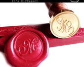 Wax Seal Stamp Set, Calligraphy and Script Font Initial simple & elegant