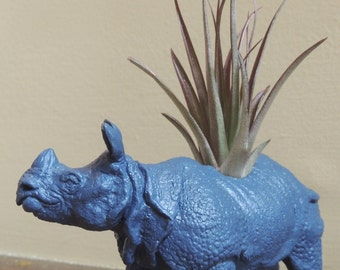 Rhino Planter / Rhinosaurus Planter / Air Plant Container / Animal Planter
