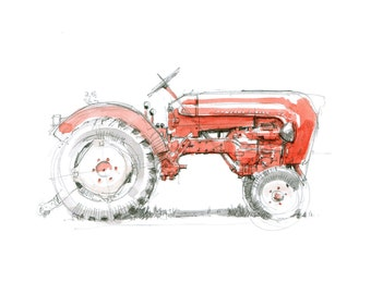 Porsche Junior Tractor - Limited edition Print