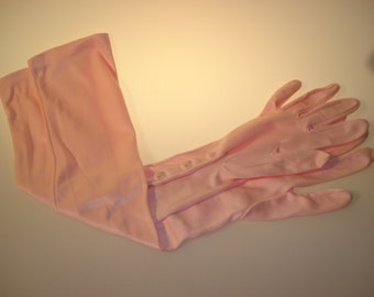 Clear PINK PASTEL Cotton Blend OPERA Gloves/Ballroom Gloves-6.5 - 7.5 Size