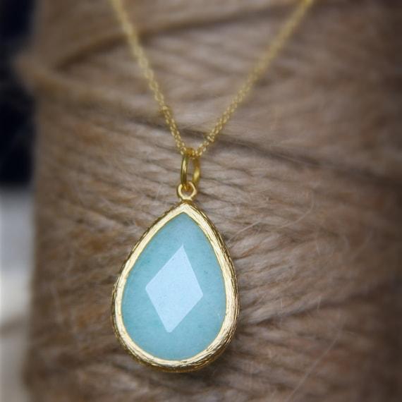 Stone Bridesmaids Drop Necklace