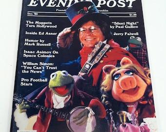 The Saturday Evening Post Magazine December 1980 Muppets