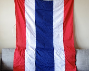 Vintage Nautical Flag - Red, White, and Blue Stripes - Flag of Thailand